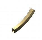 "CU-2759 Bottom Vertical Curve, 2'-0"" R X 45D, Hardened"