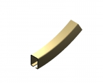 "CU-2758 Bottom Vertical Curve, 2'-0"" R X 30D, Hardened"
